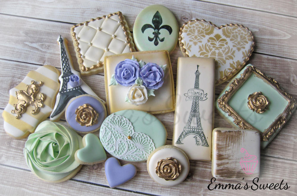Paris Themed Cookies by Emma's Sweets