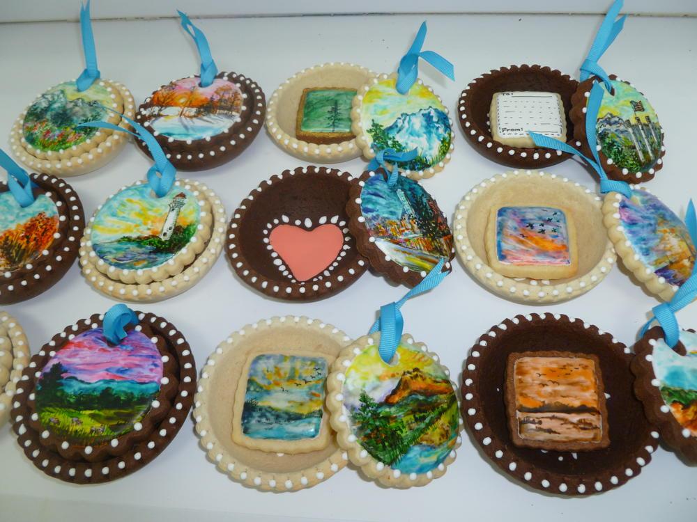 painted bowl cookies