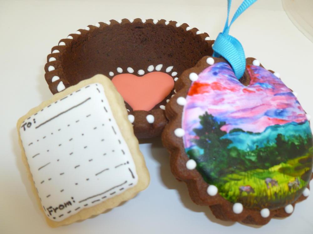 greeting card cookie
