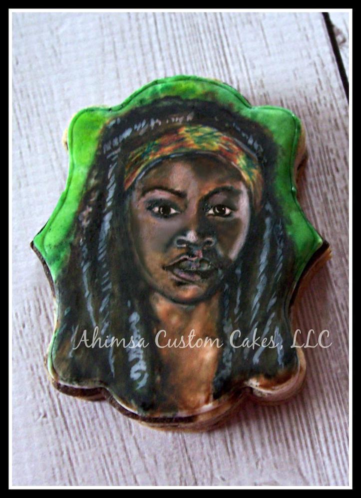 Michonne ~ The Walking Dead cookies by Ahimsa Custom Cakes