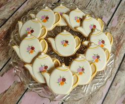Pretty Porcelain Teapots Cookies