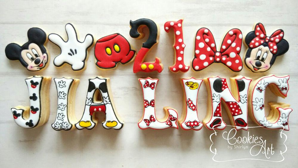 Mickey and Minnie standing letters