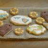 Golden Wedding Vintage Travel Cookie Set