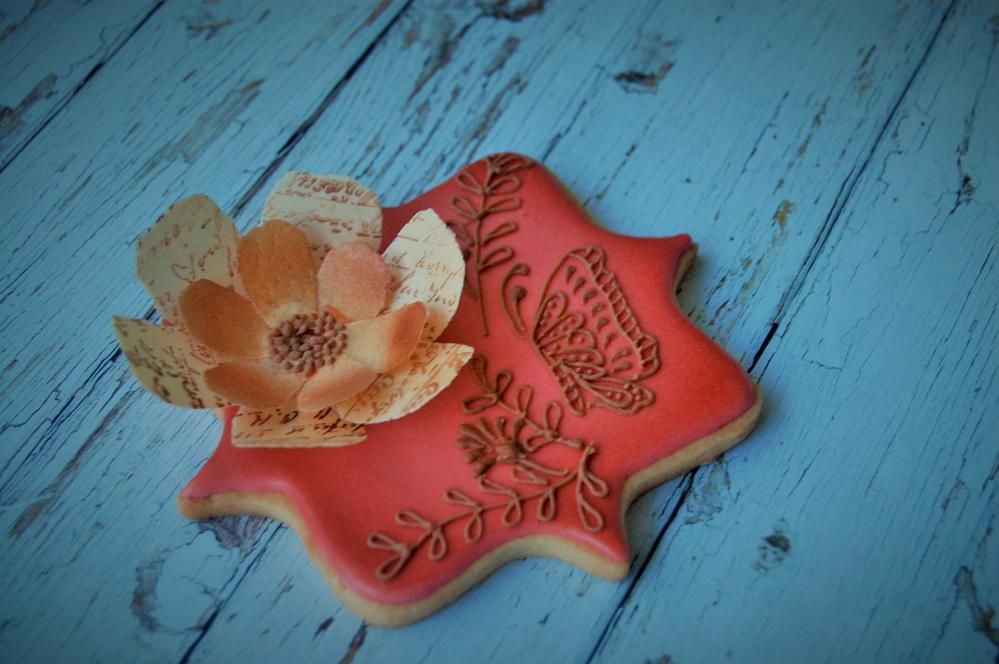 paper flower cookie