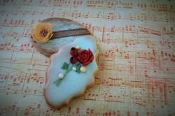 vintage flower cookies