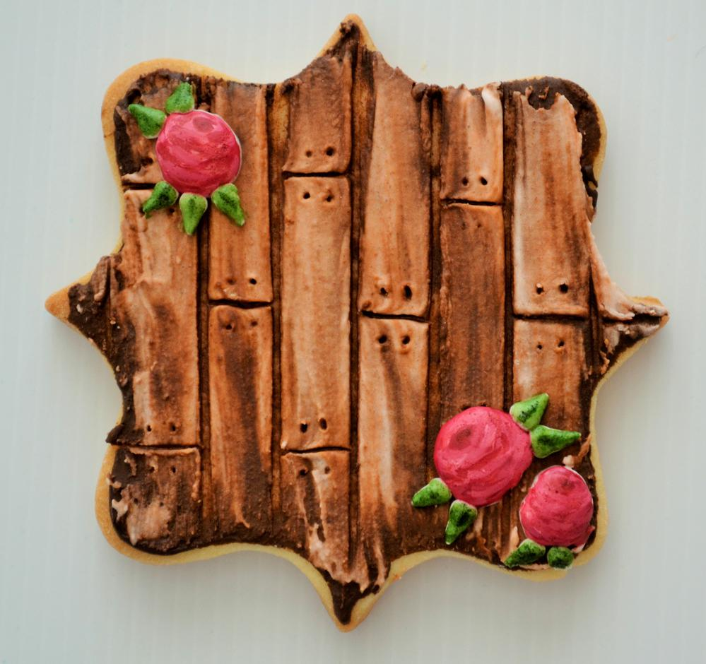 Rustic Wood Plank Cookie Tutorial