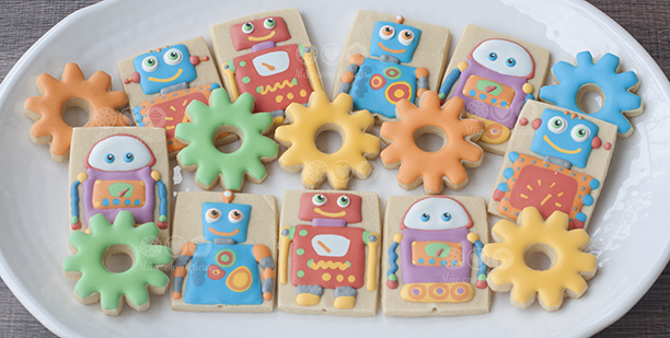 Robots Sugar Cookies