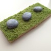 Stones on grass