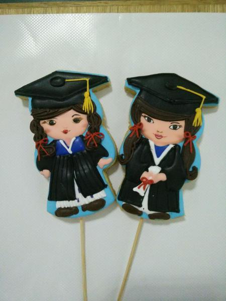 girls in graduation coat