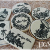 Black and White Mothers' Day Cookies