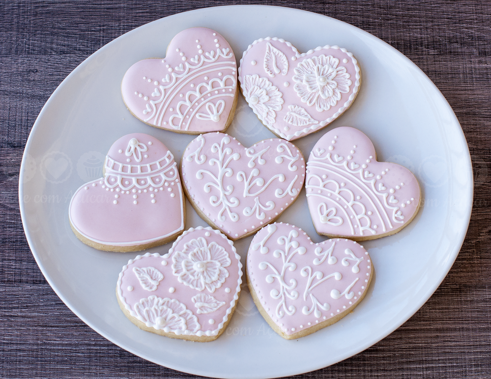 Lace Heart Cookies