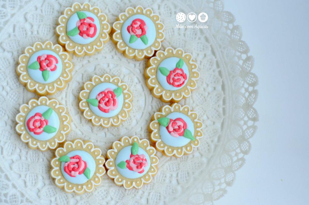 Flower mini cookies