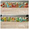 Art and crafts theme standing letters