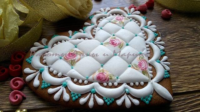 """Heart Cookie """"Shabby Chic"""""""