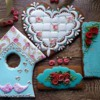 "Wedding cookie set ""Shabby chic...with love"""