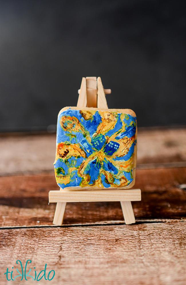 Doctor Who Van Gogh Exploding Tardis Painting