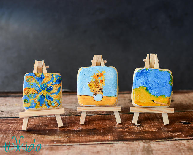 Doctor Who/Van Gogh Painting Cookies