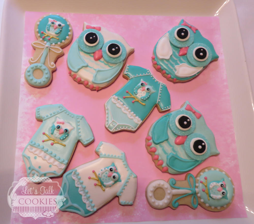 Owl Decorated Cookies Owls For Baby Shower Cookie Connection
