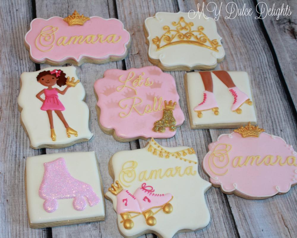 Roller Skating Princess cookies