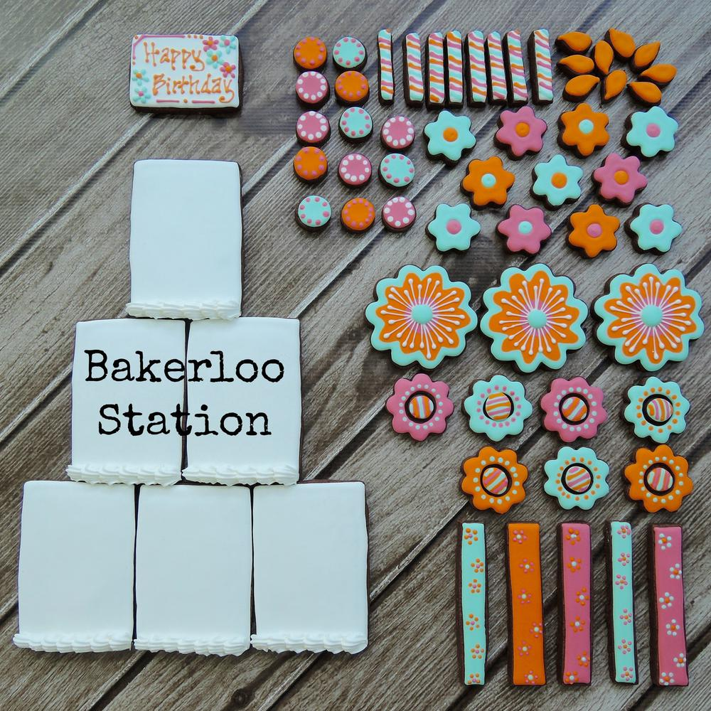 Build Your Own Birthday Cookie Cake Bakerloo Station Cookie