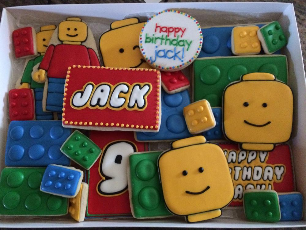 Lego Birthday Cookies