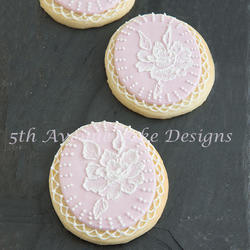 Brush Embroidery Bridal Cookies