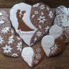 """Wedding gingerbread set """"White and Brown"""""""