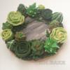 Succulents wreath cookie