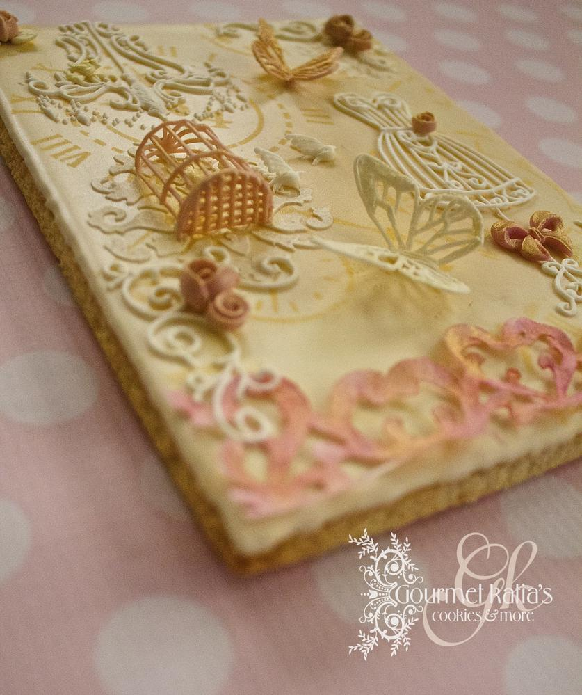 Shabby Chic Cookie Canvas, Diagonal View