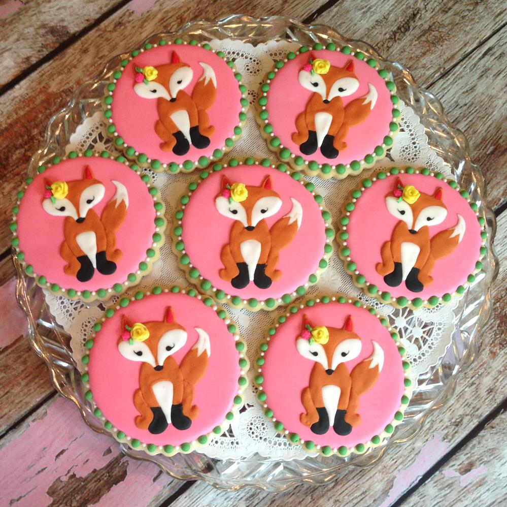 Fox Cookies For a Baby Shower