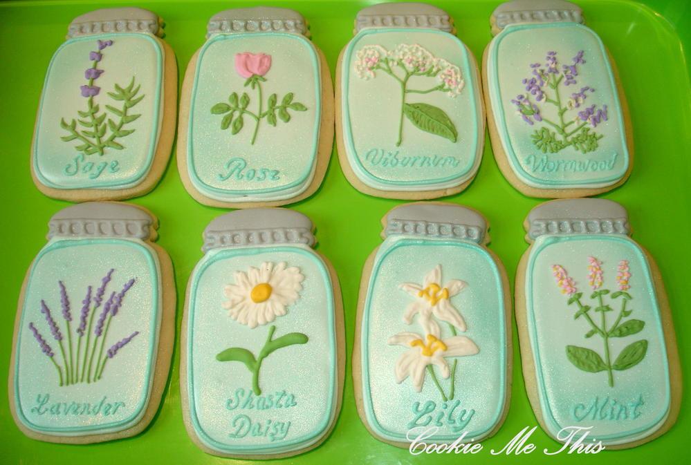 Mason Jar Garden Cookies