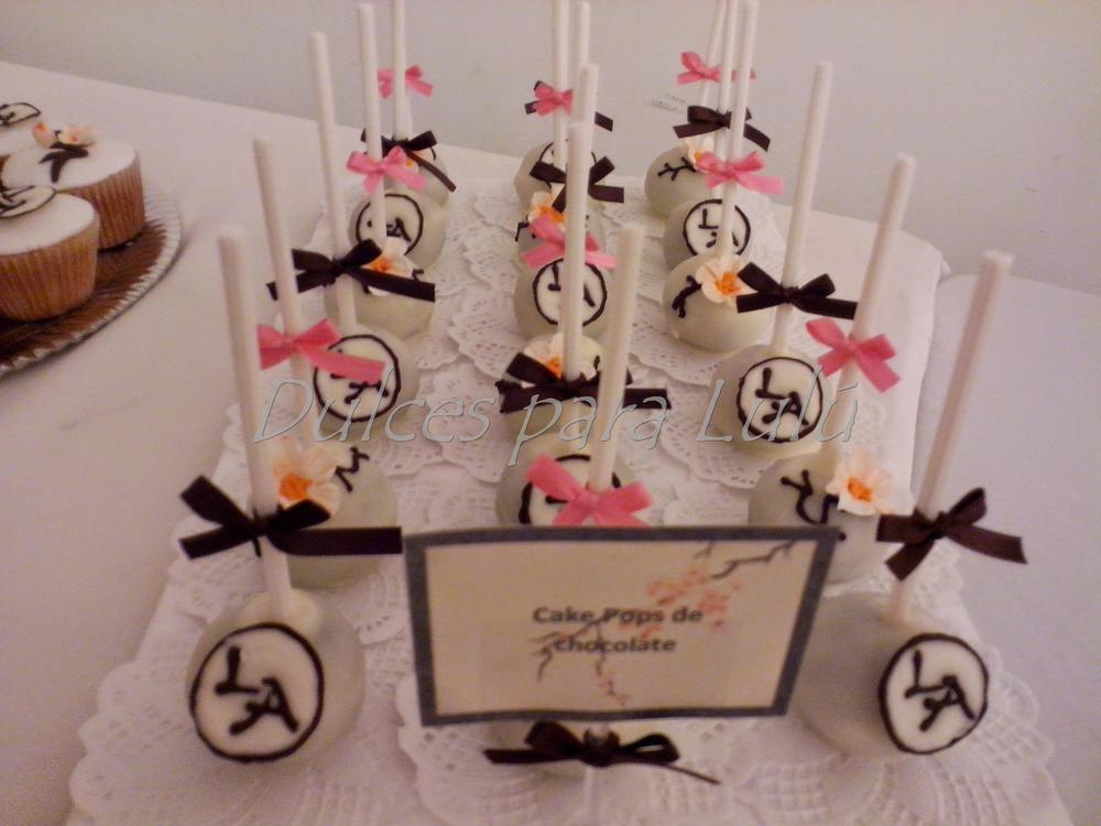 cake pops flores de cerezo