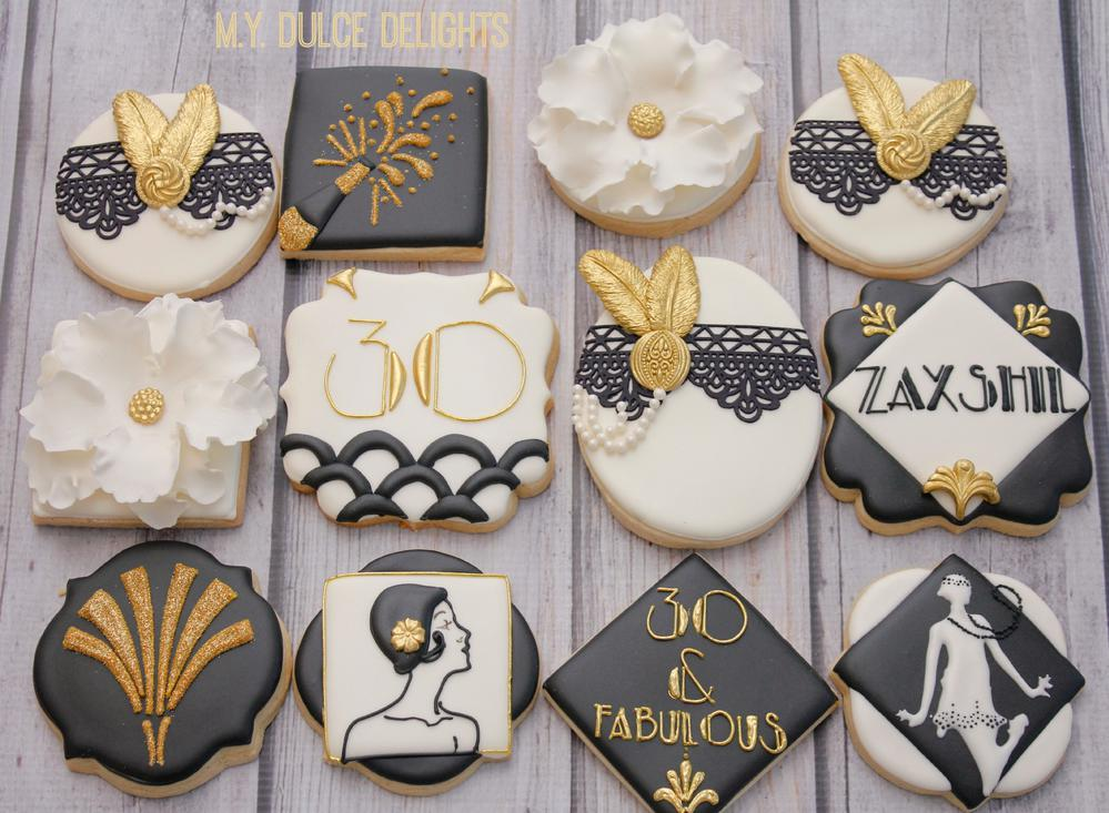 Gatsby Themed 30th Birthday Cookie Connection