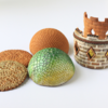 Textured and Contoured Cookie Pieces: Photo and Cookies by Julia M Usher