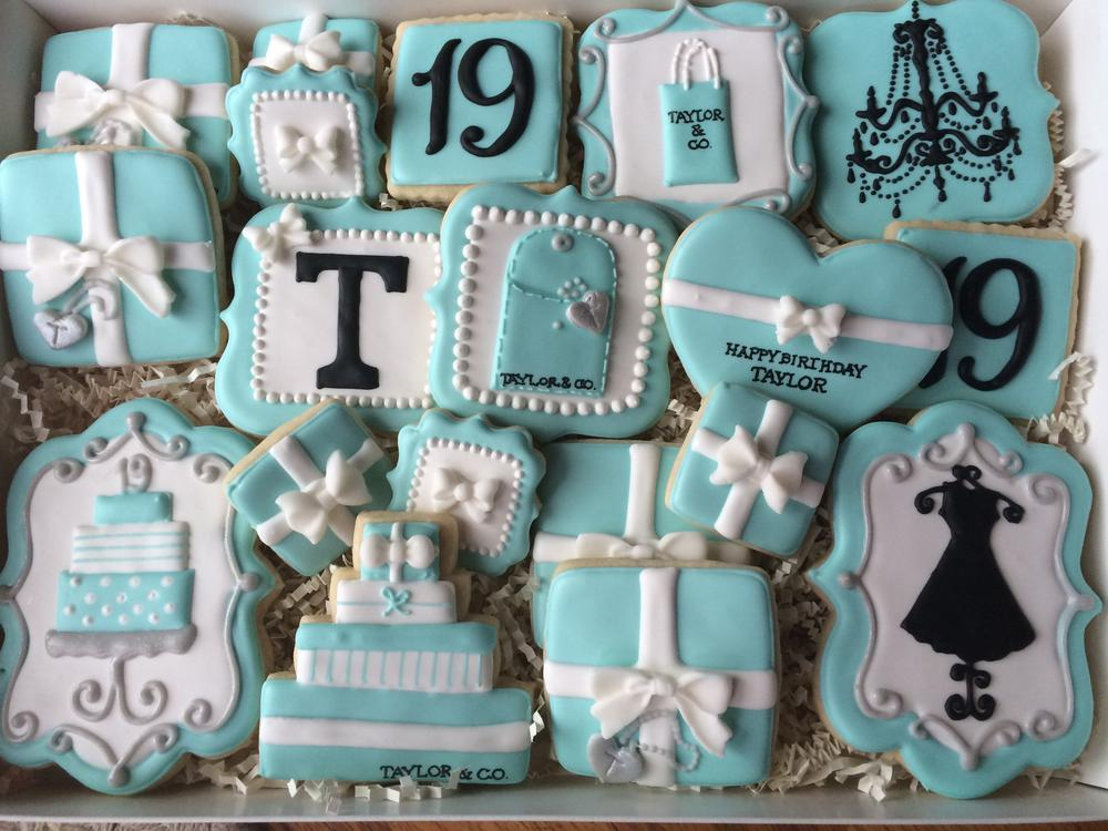 Tiffany Birthday Cookies Cookie Connection
