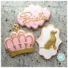 Pink, Gold, and Girly, sugarhappycookies.com