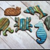 Wood Plank Sea Creatures by Ahimsa Custom Cakes