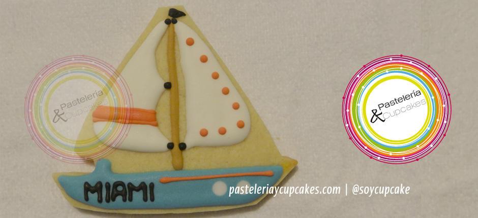 Galleta con diseño de barco