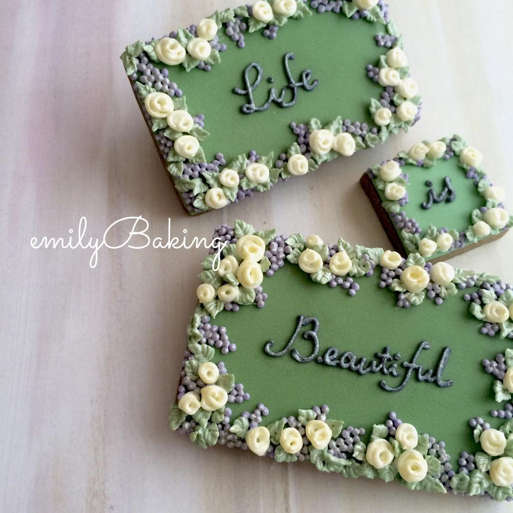 Summer garden cookies