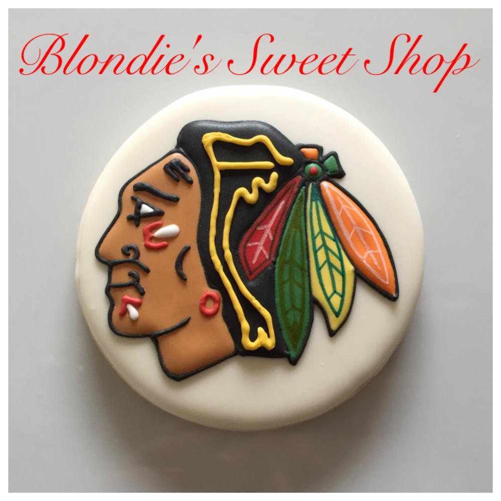 Blackhawks Logo Cookie