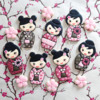 Kawaii Kokeshi Doll Cookies