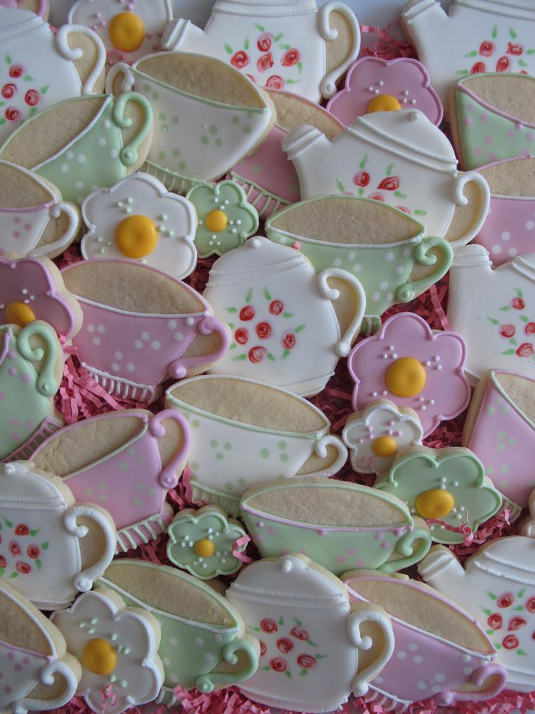Teacup and teapot birthday platter