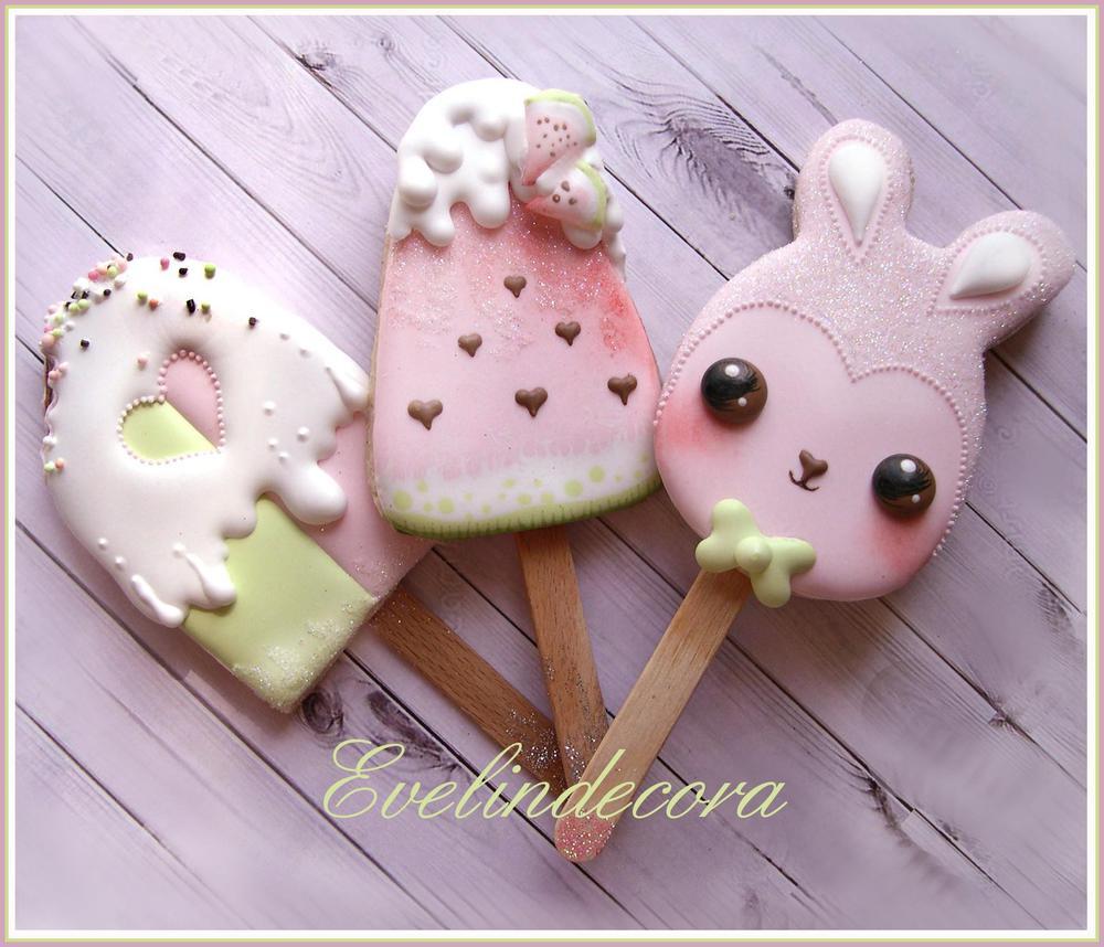 Kawaii Ice Cream Cookies