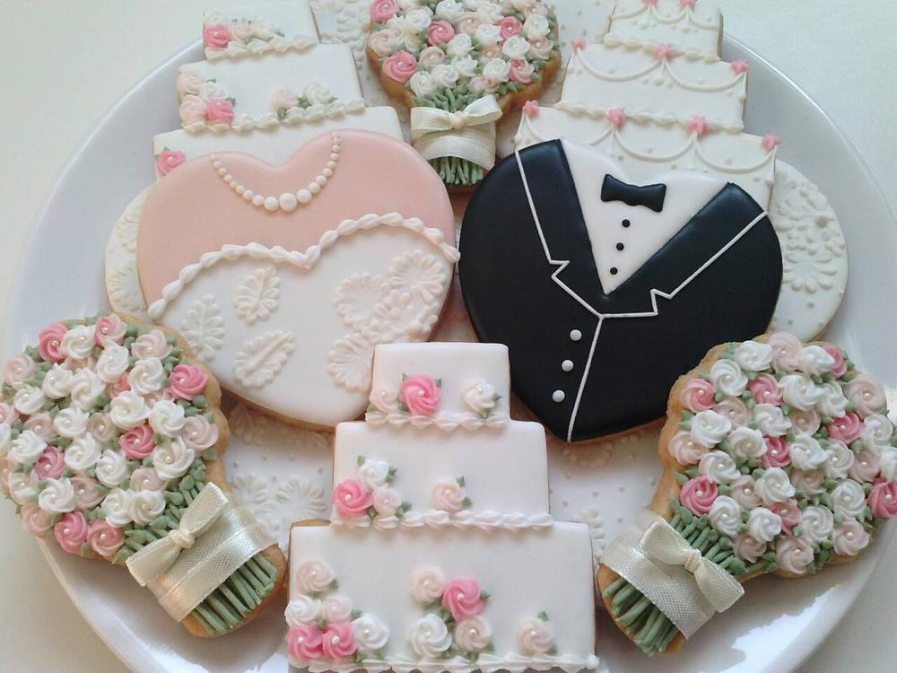 Image result for wedding cookies