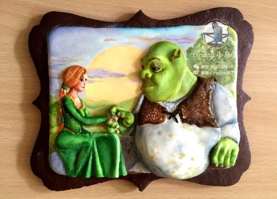 Shrek and fiona cookie connection - Biscuit shrek ...