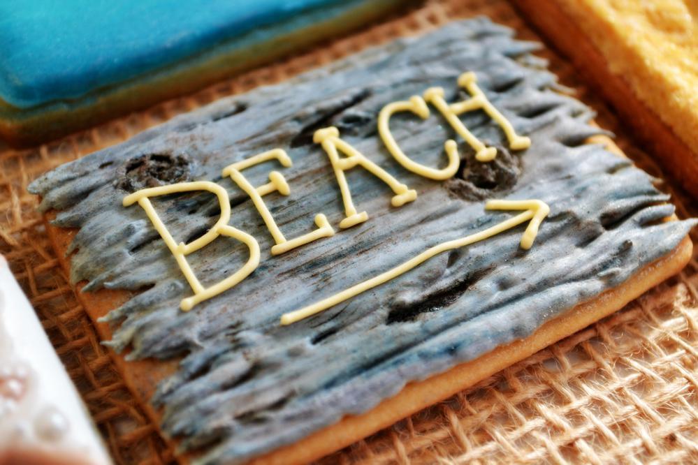 Beach Sign Cookie