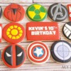 Marvel Comic Logo Cookies