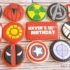 Marvel Comic Logo Cookies