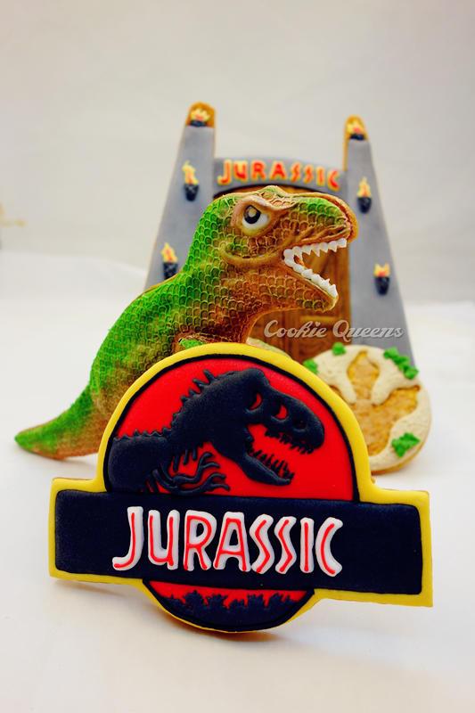 Jurassic World_Jurassic logo (Cookie Queens)