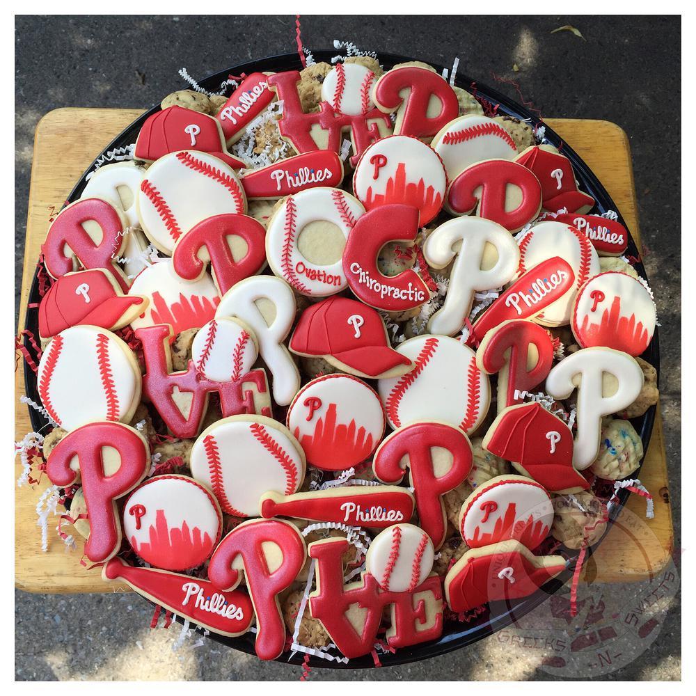 Philadelphia Phillies Tailgate Tray - Greeks-N-Sweets